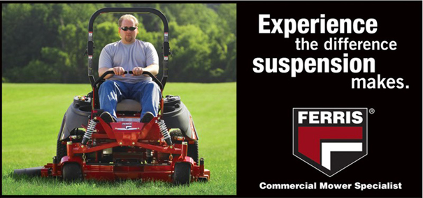 Experience the difference suspension makes - Ferris - Commercial Mower Specialist