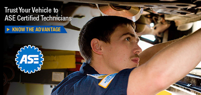 Trust Your Vehicle to ASE Certified Technicians - Know the Advantage