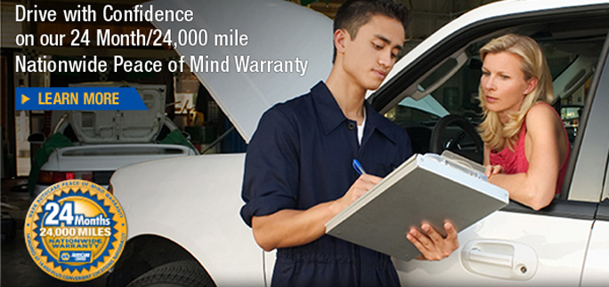 Drive with Confidence on our 24 month/24,000 mile Nationwide Peace of Mind Warranty - Learn More
